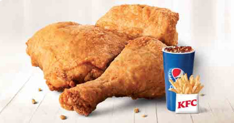 3 Piece Chicken, 1 small fries, 1 medium soft drink 20 ozsoft drink 20 oz